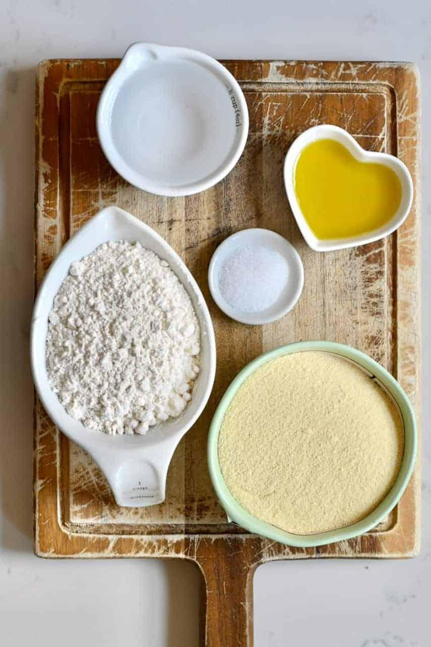 Ingredients for vegan pasta