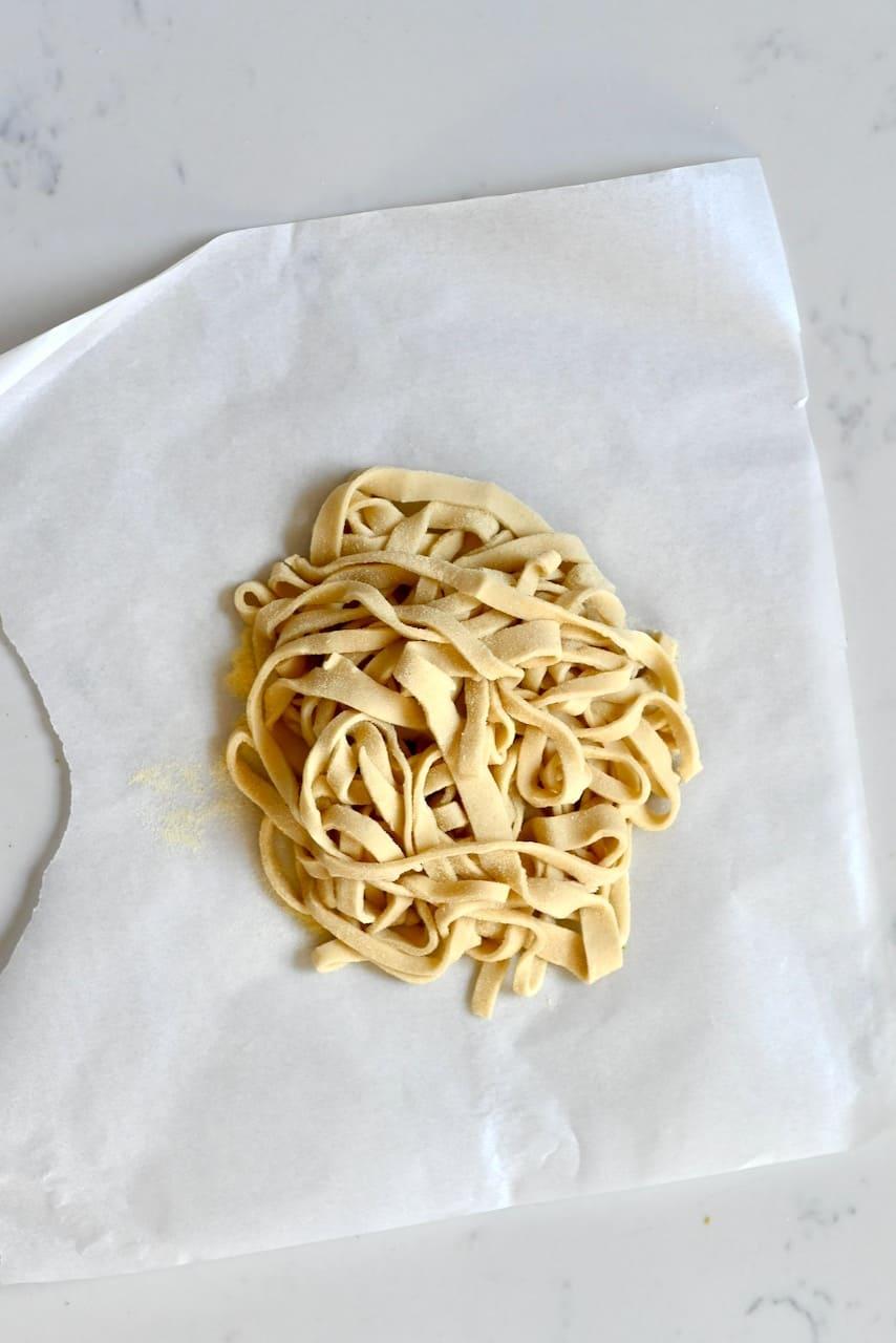 Homemade Vegan Pasta Tagliatelle