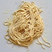 Square photo vegan pasta