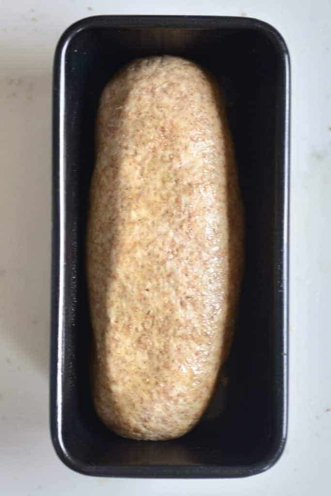 Bread loaf in tin