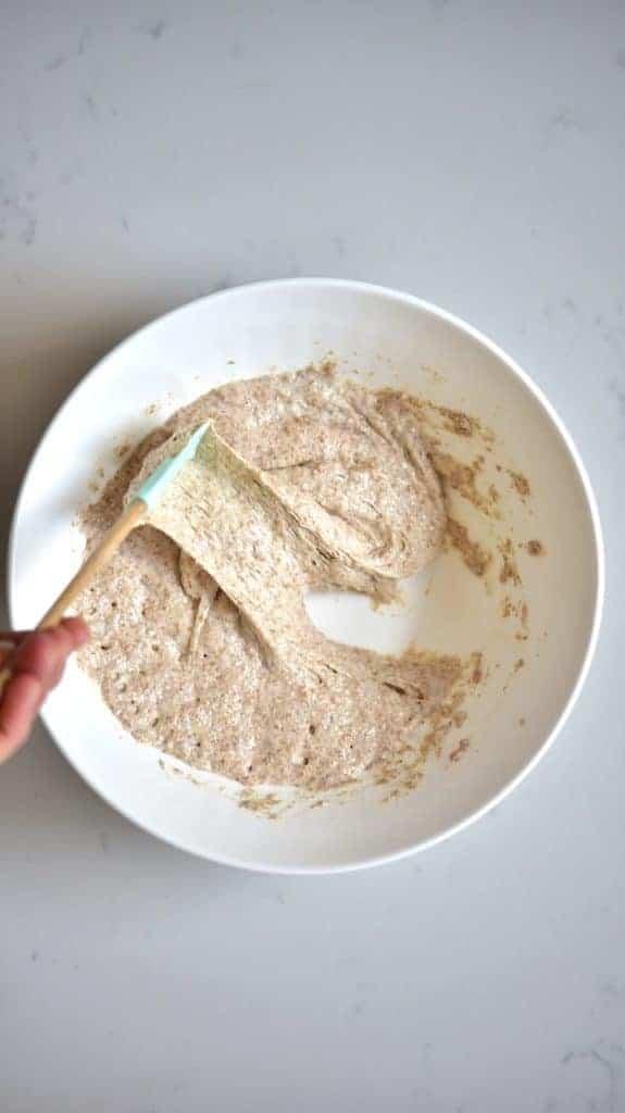 Ready poolish for Whole-wheat bread