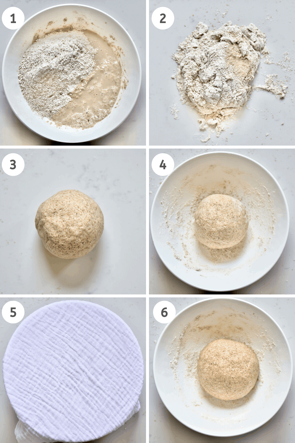 Whole wheat Bread dough mixing