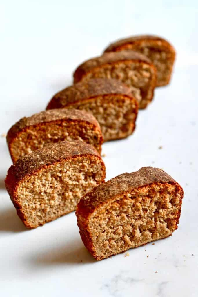simple homemade Whole wheat Bread slices