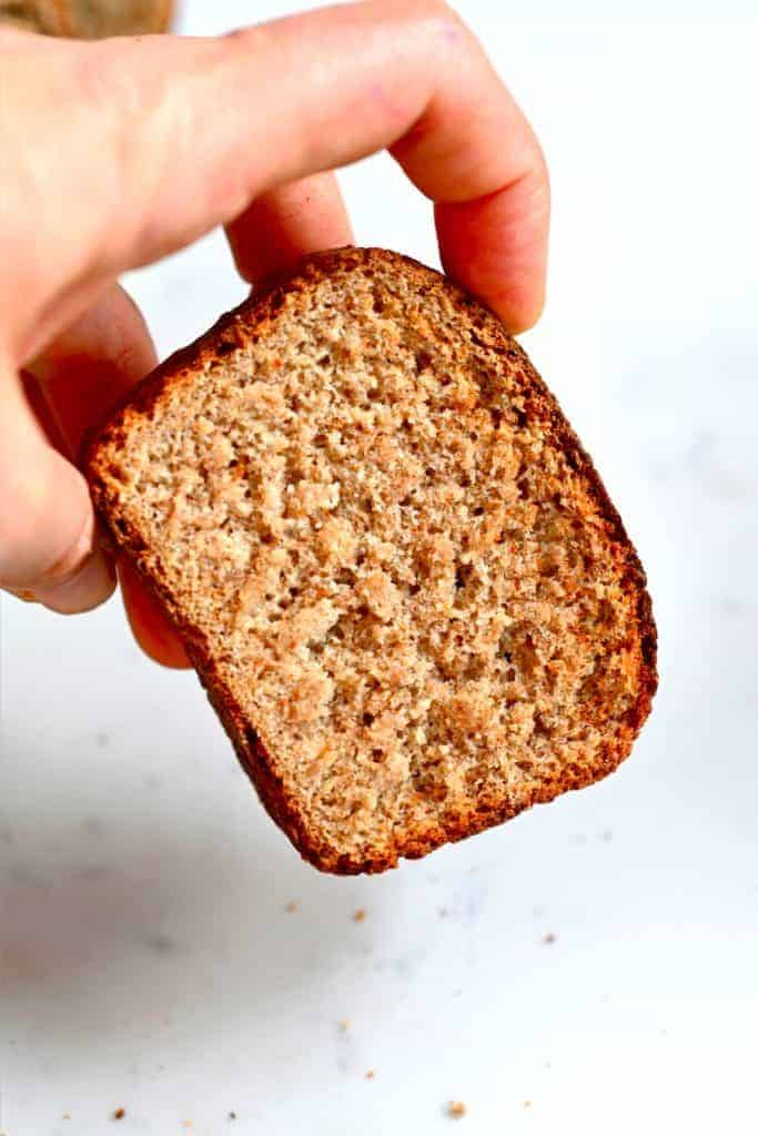 A slice of homemade Whole wheat Bread