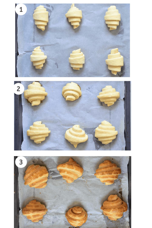 Homemade croissants - making