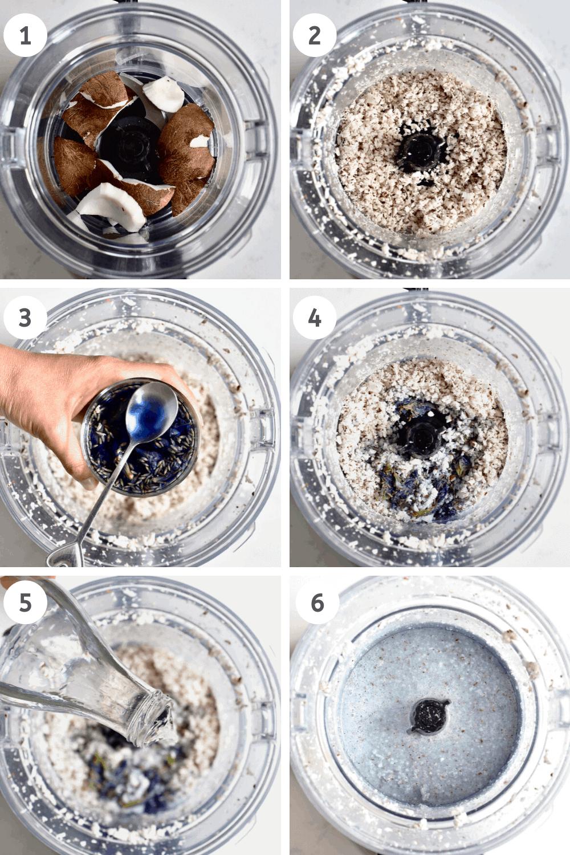 Blending Blue Bantha Milk steps