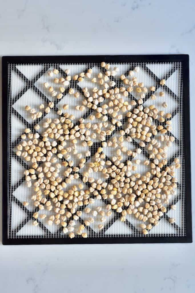 dried chickpeas at home