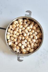 Chickpeas in a grinder