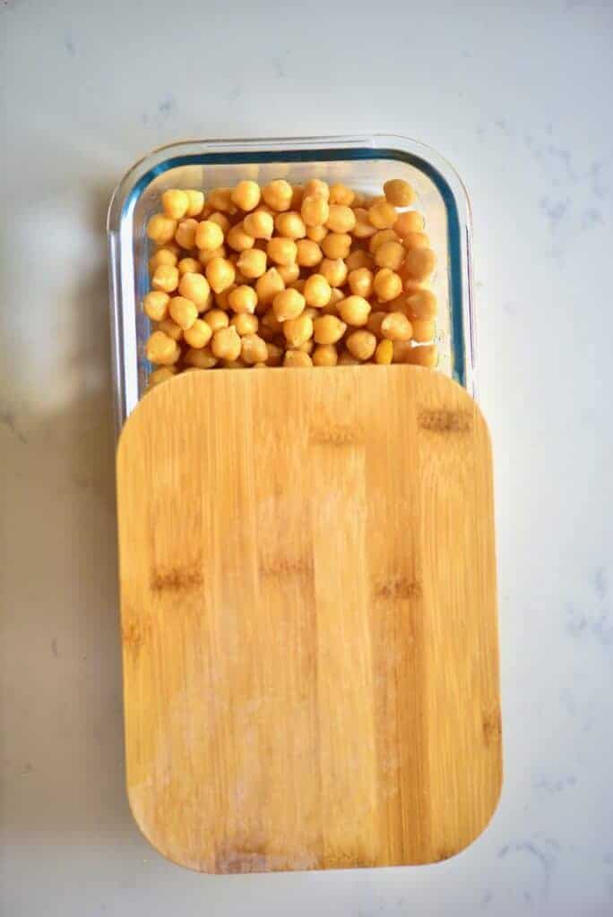 Chickpeas for freezing