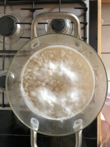 foam on top of cooking chickpeas