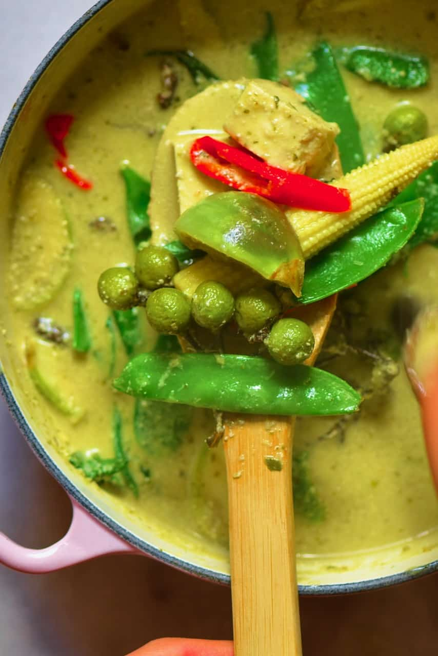 A spoonful of Thai green curry