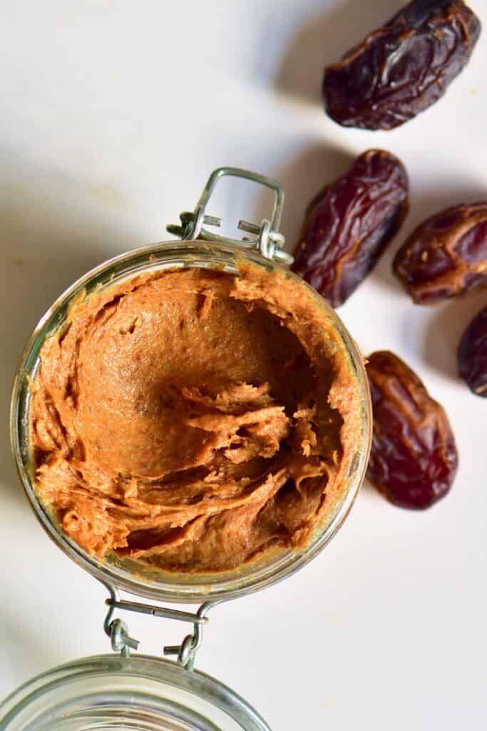 Date paste in a jar