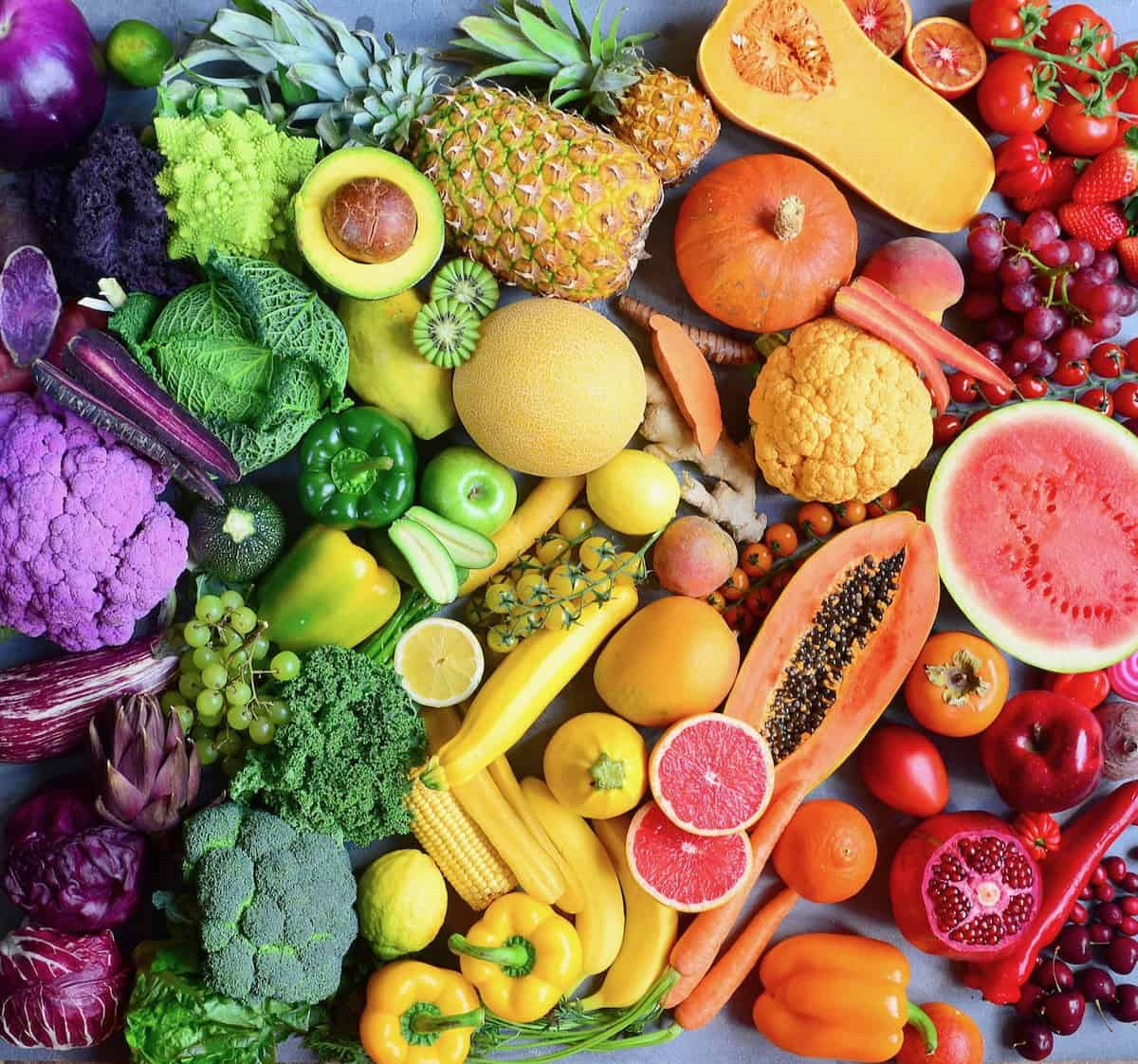 rainbow fruits and vegetables