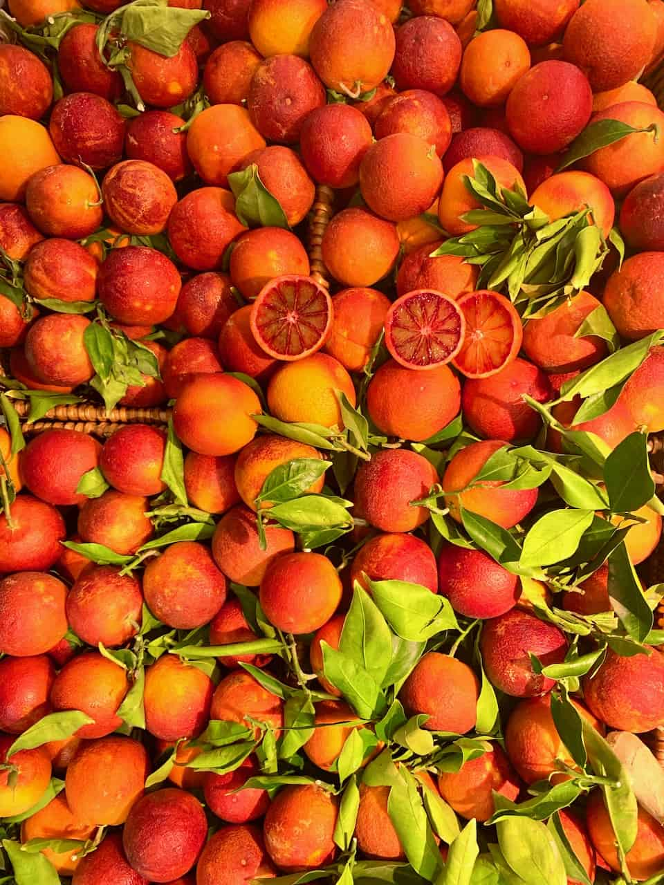 spread of blood orange