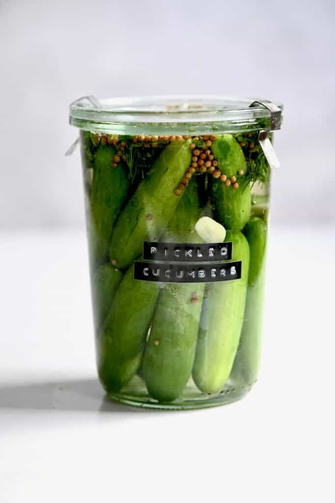 Homemade Easy Pickled Cucumbers