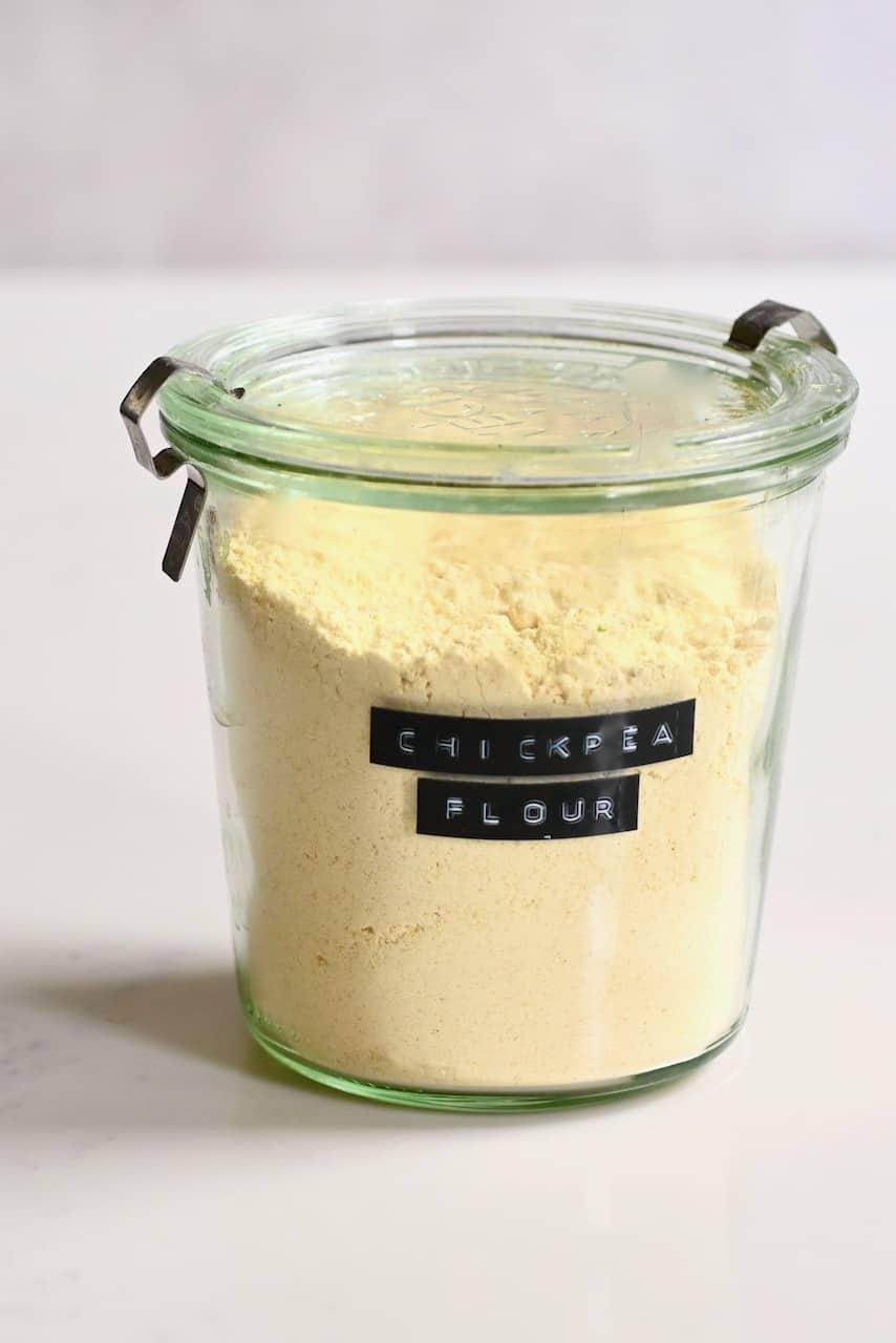 Homemade chickpea flour