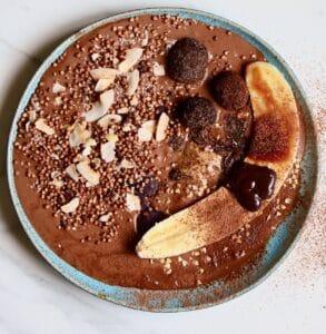 Chocolate smoothie square