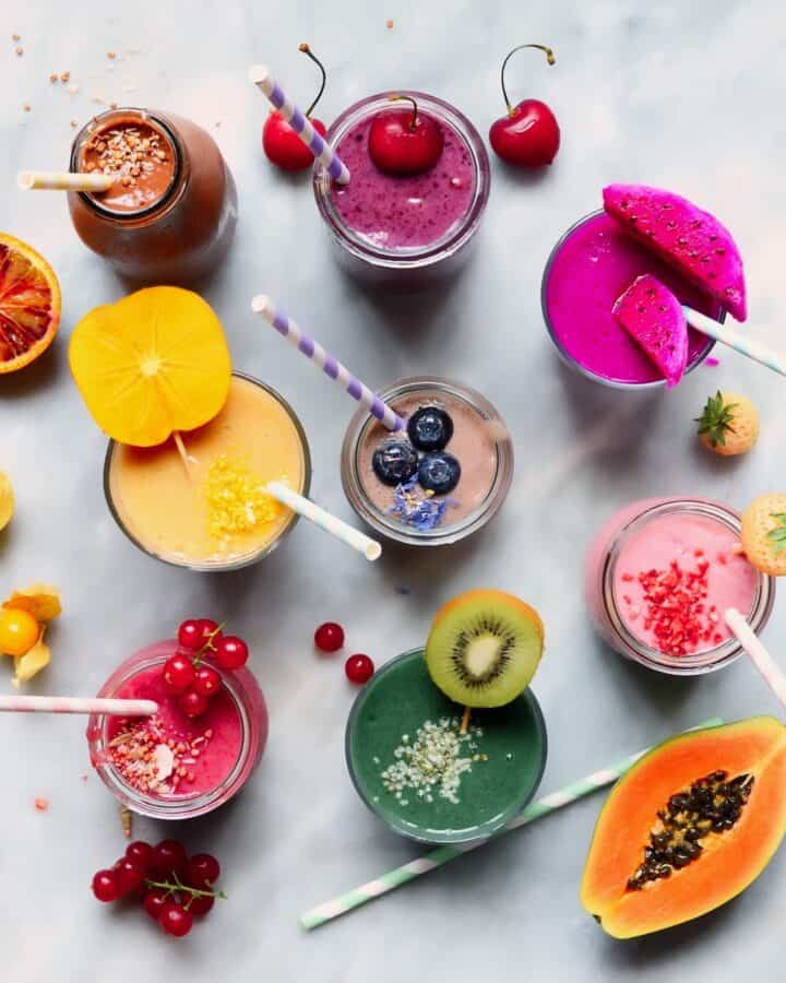 Colorful smoothies square