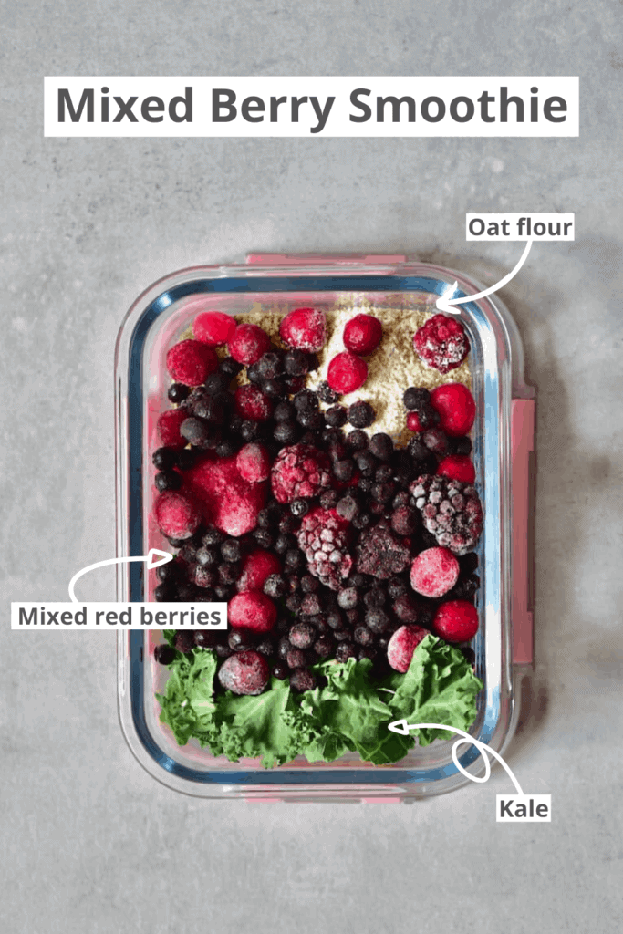 Mixed Berries Smoothie Ingredients