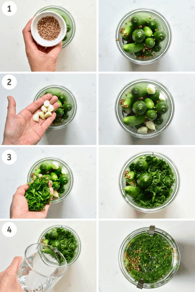 Pickling cucumbers steps