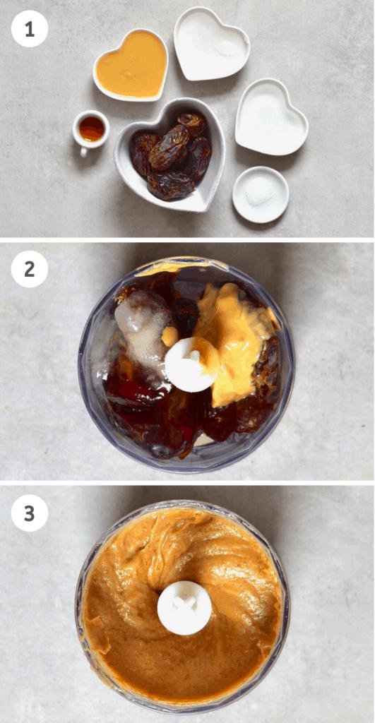 Steps to make vegan salted caramel