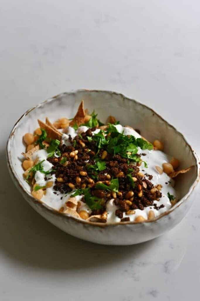 Simple homemade Fatteh