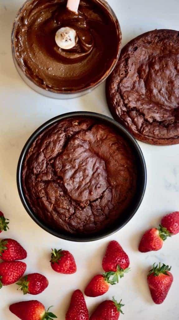 Ready to decorate chocolate cake