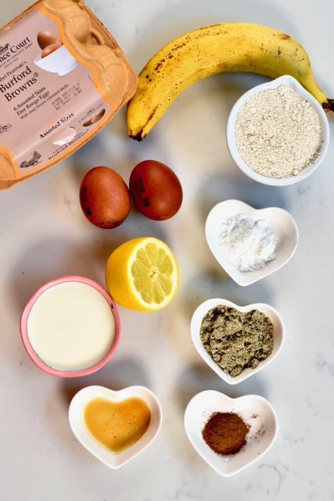 ingredients for making mini pancakes