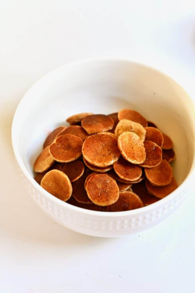 mini pancakes in a bowl