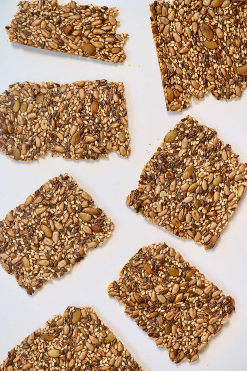 A few seeded crackers