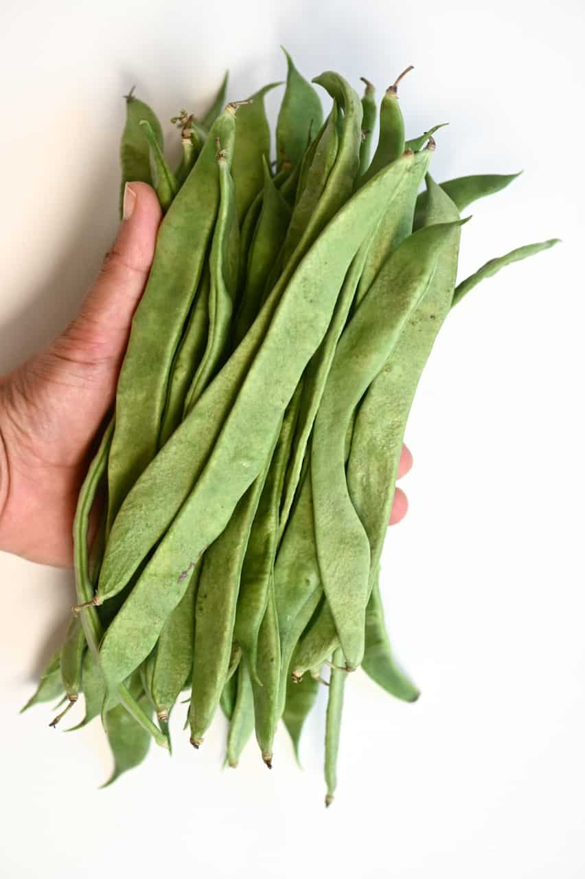A handful of green beans