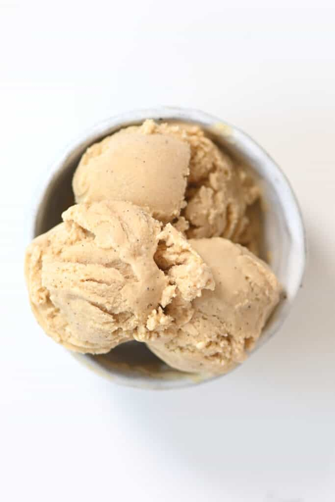 A serving of Caramel Ice Cream