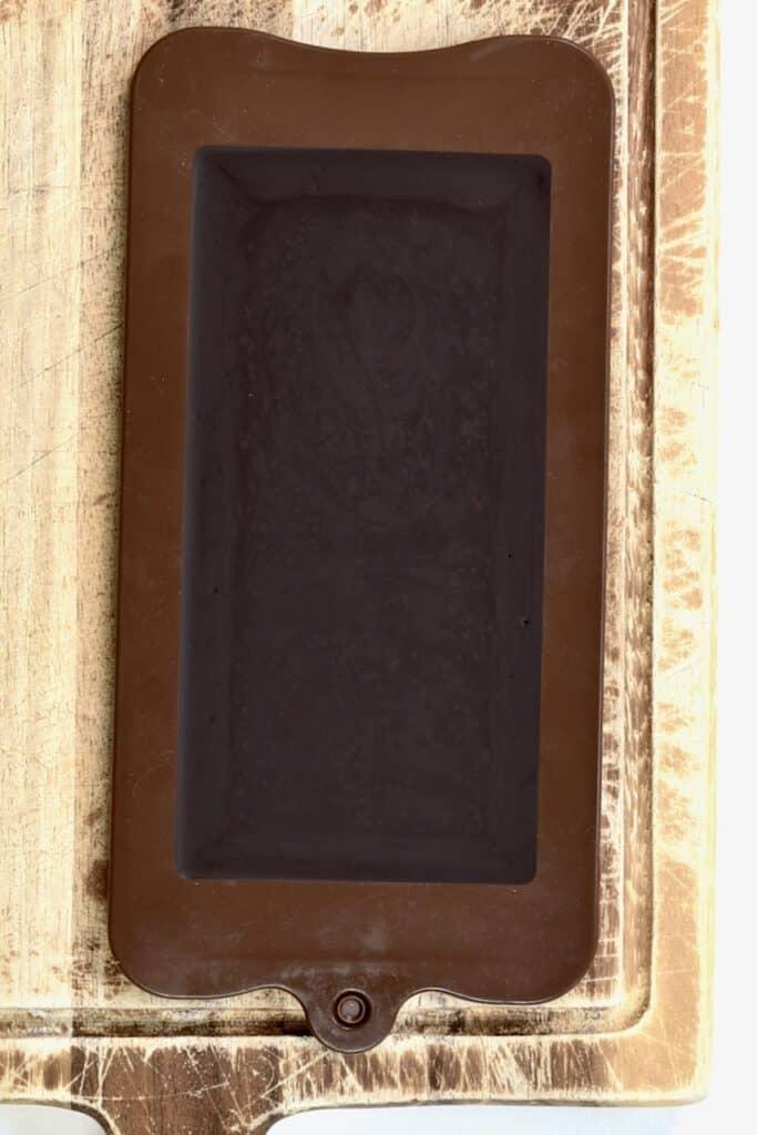 Dark Chocolate - set in a chocolate mold