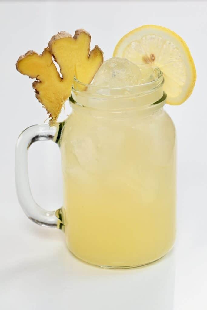 Ginger Lemonade in a glass jar