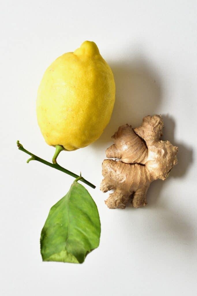 ginger and lemon for ginger tea recipe