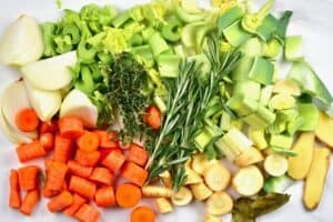 Vegetables for vegetable stock