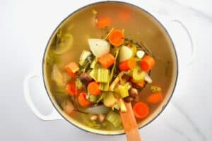 Vegetable homemade stock