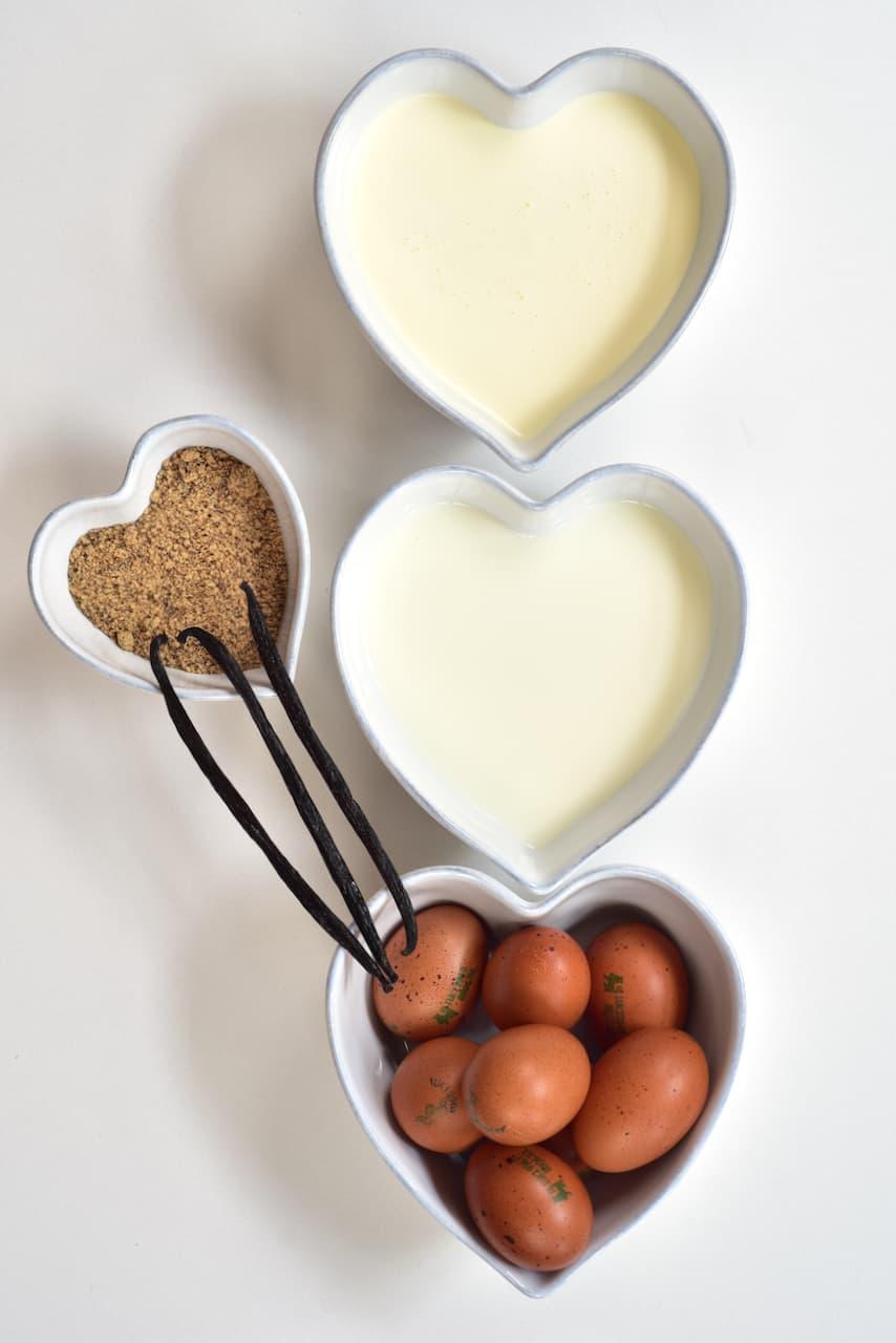 Ingredients for Caramel Ice Cream