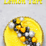 Pistachio and Lemon tart