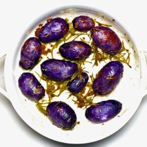 Roasted Purple Potatoes - square photo