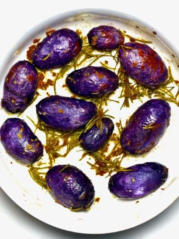 Roasted Purple Potatoes - square photo