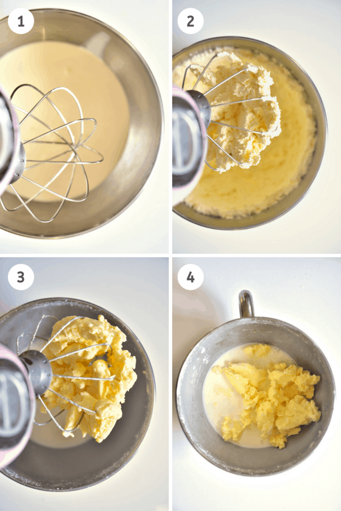 Steps to making butter in a stand mixer