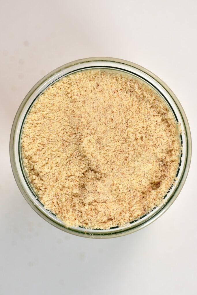 almond meal inside storage jar