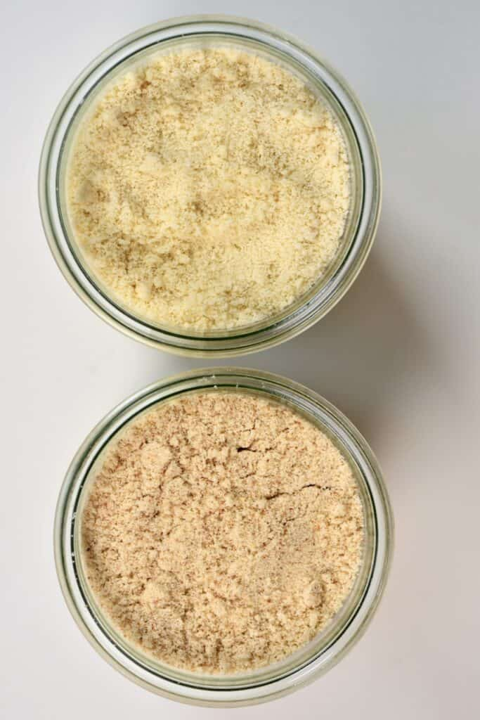 almond meal next to almond flour