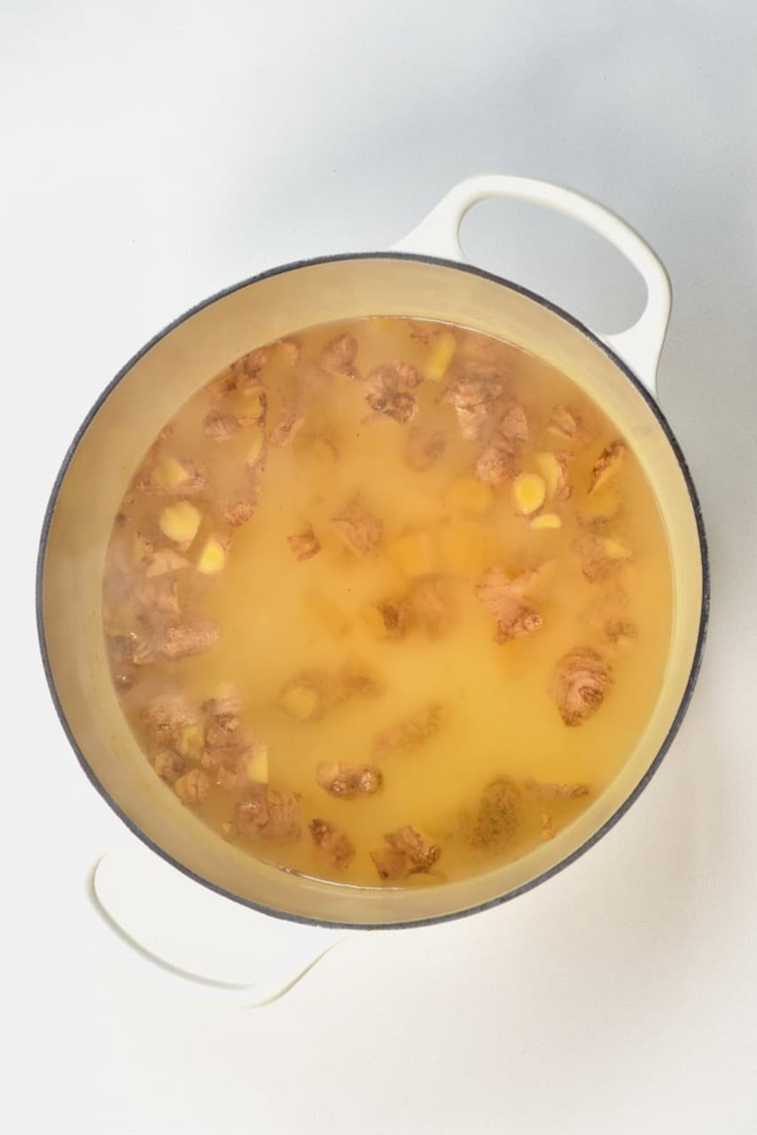boiled ginger cooling down