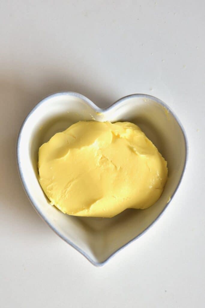 buttermilk inside a heart shaped bowl