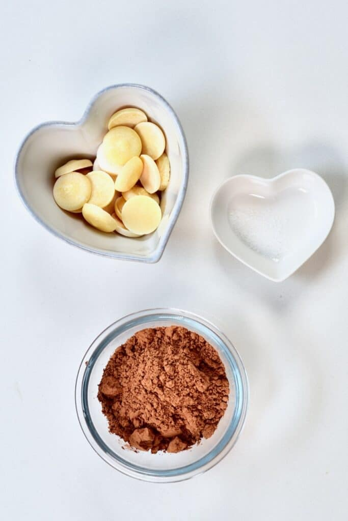 cacao butter cacao powder and sea salt