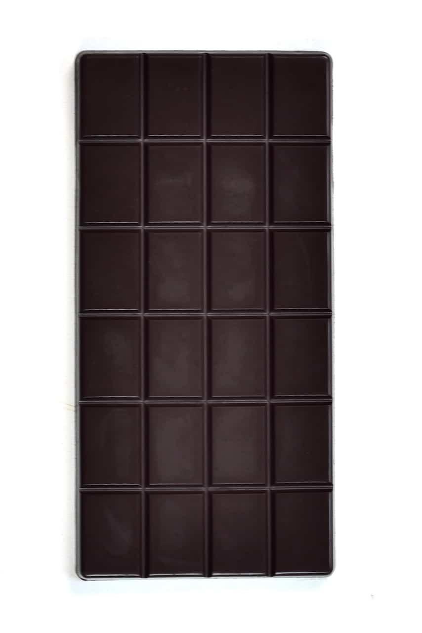 homemade dark chocolate bar