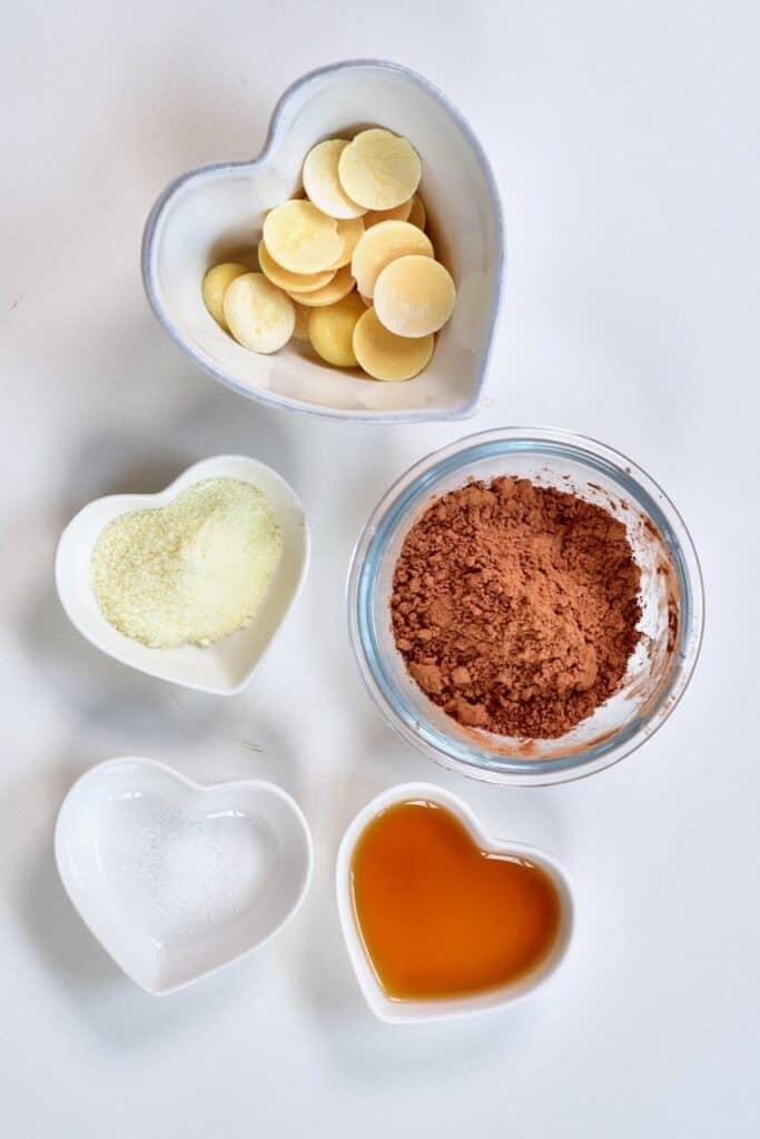 ingredients for making milk chocolate