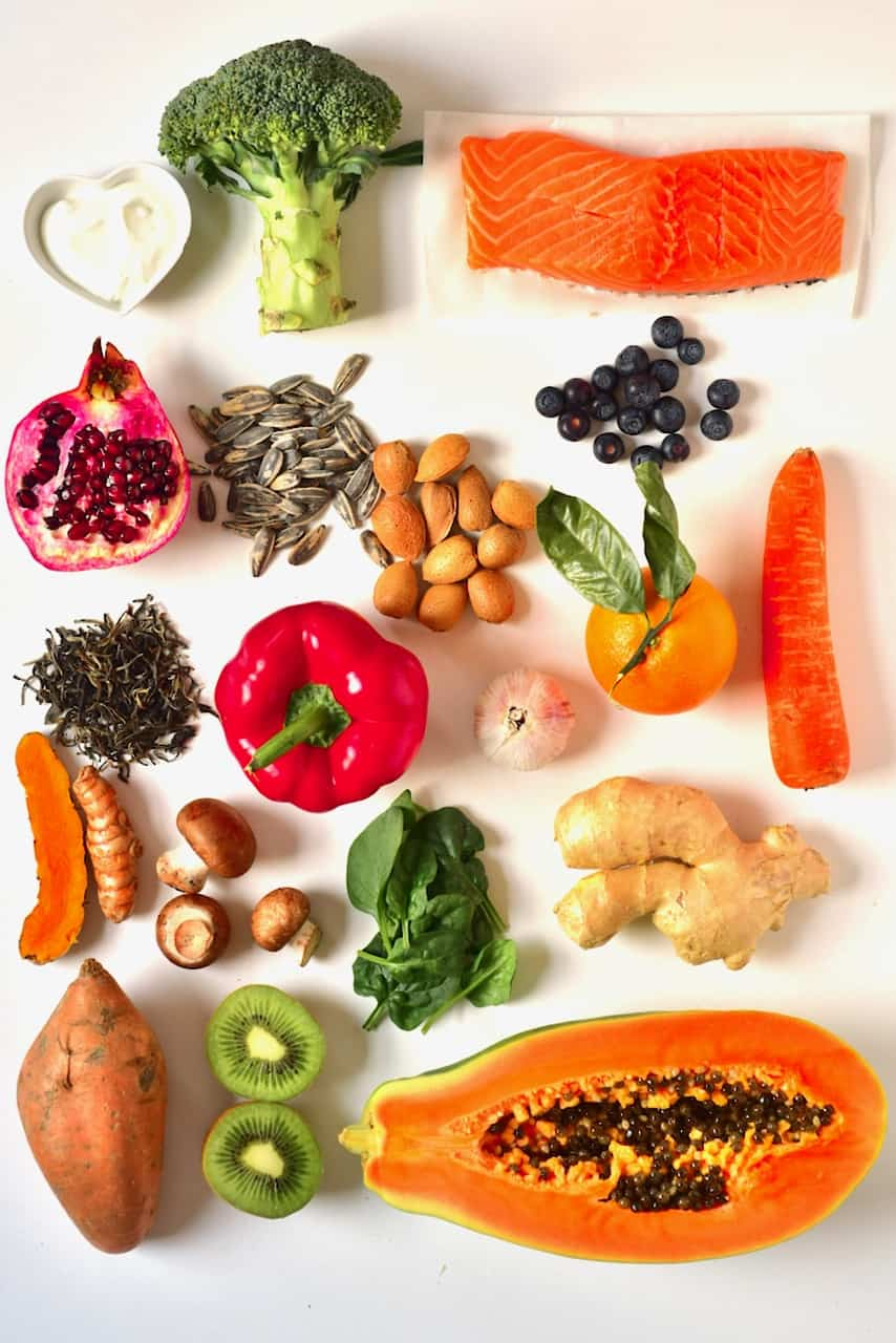 layout of high immune boosting foods